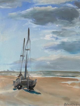 Catamaran on the beach