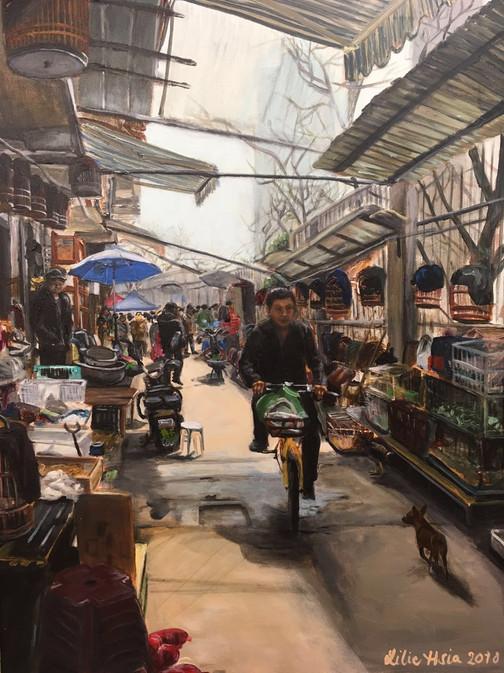 Antique market in Wenzhou, China