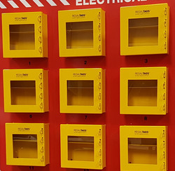 Pre-mounted Lock-out Boxes