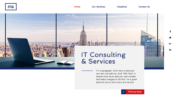 コンサルティング website templates – IT Services