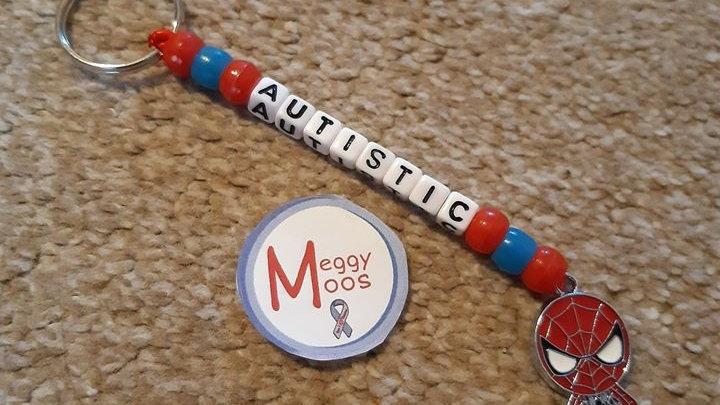 Spiderman Autistic Keyring