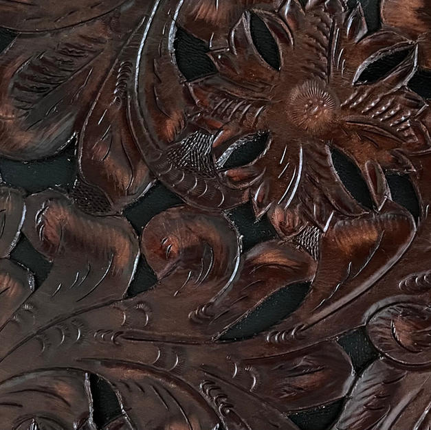 Tooled Brown with Black Inlay