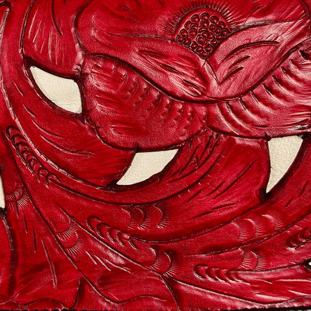 Tooled Red with Ivory Inlay