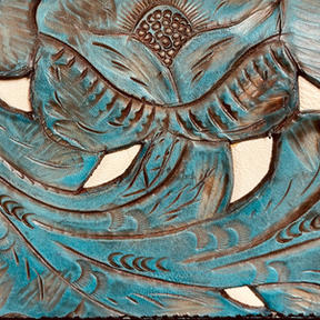 Tooled Turquoise with Ivory Inlay
