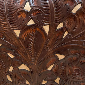 Tooled Brown with Ivory Inlay