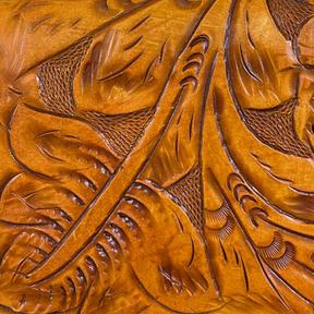 Tooled Saddle Tan