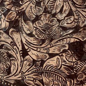 Tooled Natural Handpainted in Black