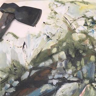 Detail - Oil on wood panel 20x20 cm 2020
