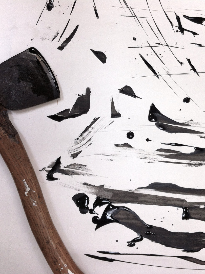 Ink Axe Drawings