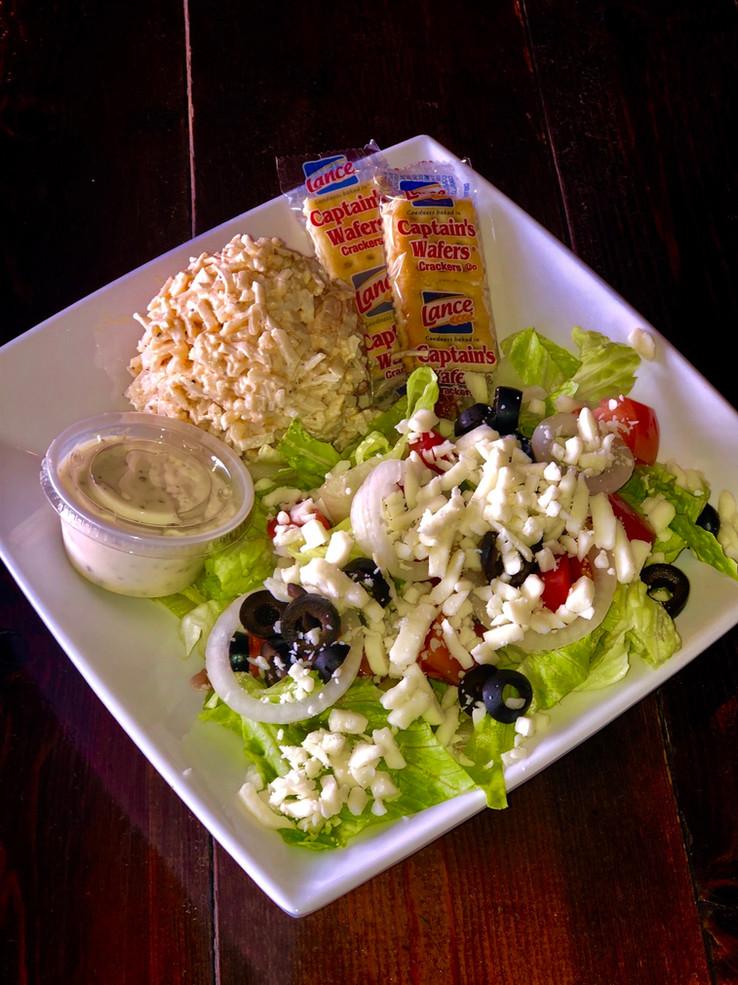 Seafood Salad with a side salad