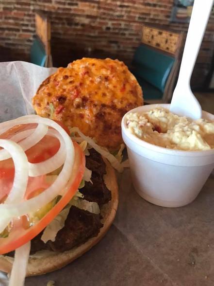 Smoky Pimento Cheese Burger
