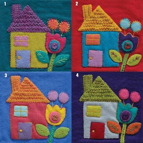Sue Spargo Pre-Cut Wool Applique Pack - HOUSE