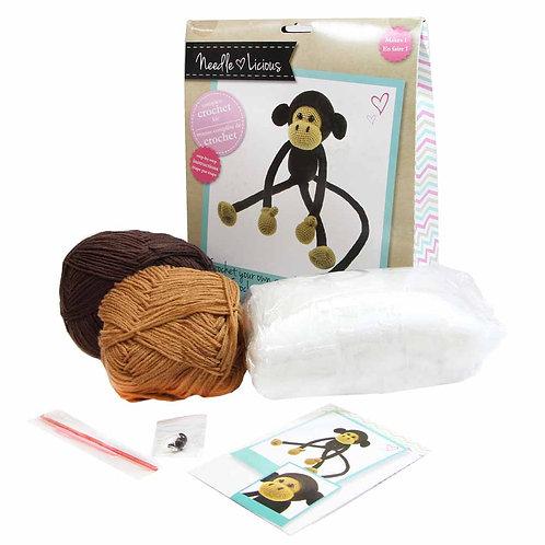 NEEDLELICIOUS Complete Crochet DIY Kit - MONKEY