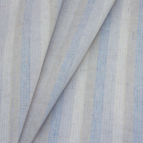 Cream, Beige, Blue Stripe