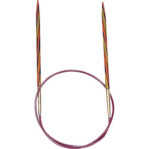 "KNIT PICKS Rainbow Wood Circular Knitting Needles - 40 cm/16"""
