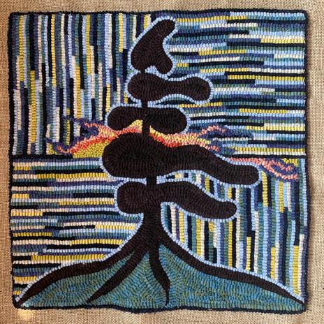 Wind Swept Pine Silhouette - 2020