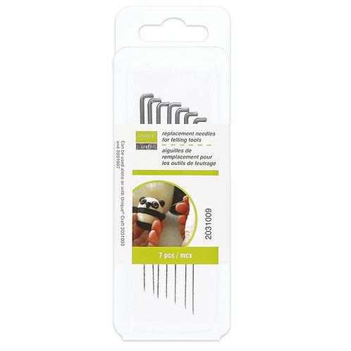 UNIQUE CRAFT Felting Tool Replacement Needles - 7 pcs