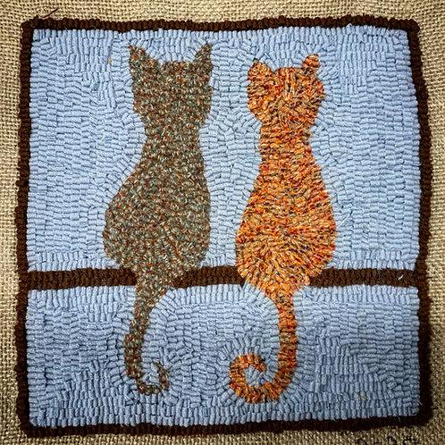 "Rug Hooking Kit - ""Cat Perch"""