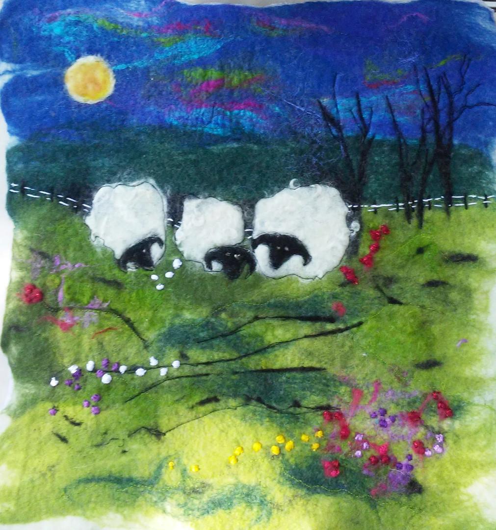 Sheep Under the Moonlight - 2020