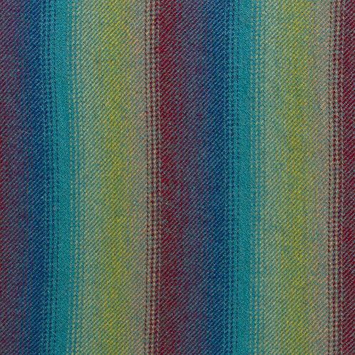 Ombre Stripe of Teal, Royal,Red & Yellow