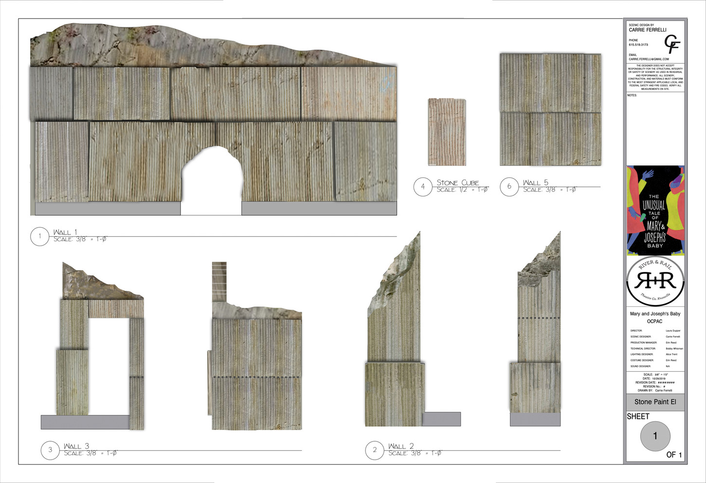 Paint Elevation of Stone Walls