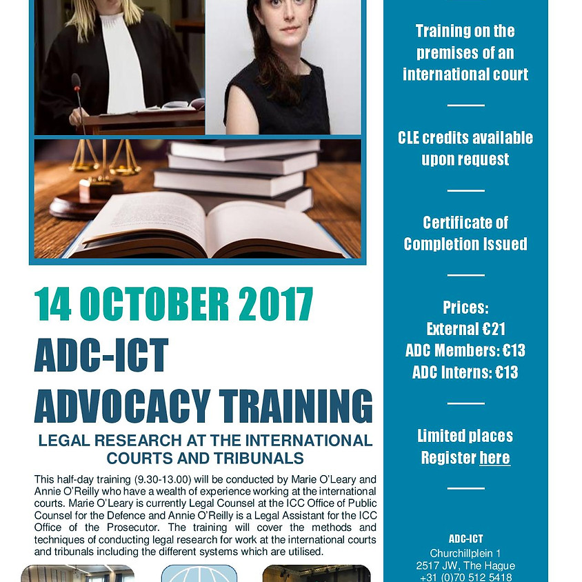 Legal Research at the International Courts and Tribunals