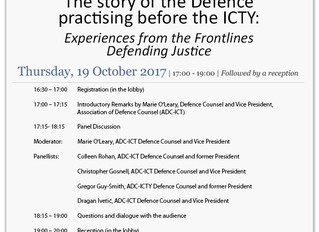 Lecture: Story of the ADC-ICT: Experiences from the Frontlines Defending Justice