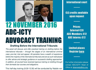 Advocacy Training - Drafting before the International Tribunals
