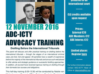Advocacy Training - Drafting before the International Tribunals