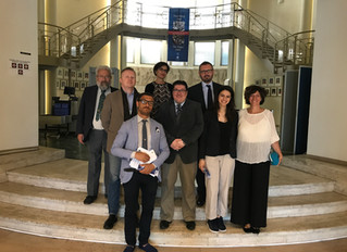 Group of Lawyers from Bologna Visit the Tribunal