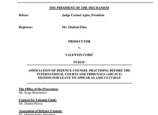 ADC-ICT Submits Amicus Brief to President of the UN IRMCT on Early Release