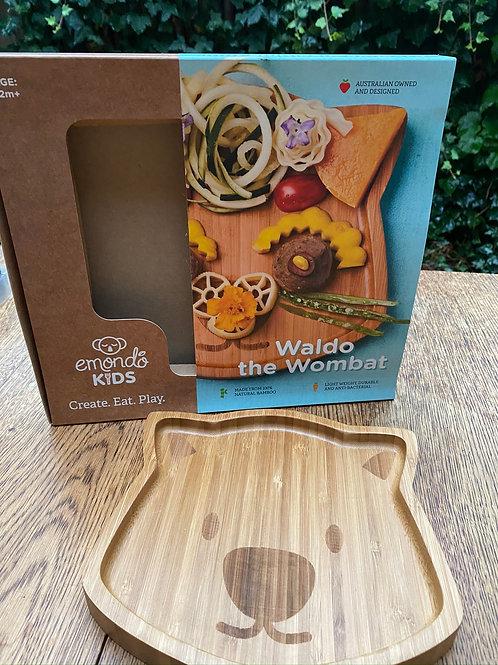 'Waldo Wombat' Bamboo Plate