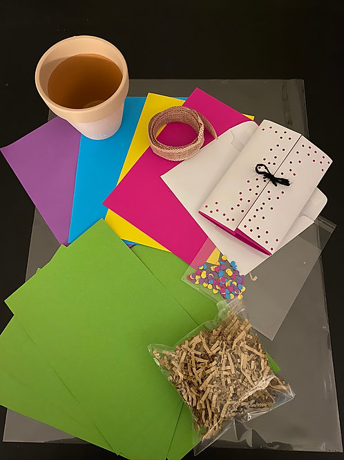 Kids Craft Pack Flower Pot and Card (without paint)