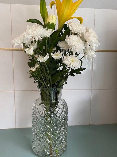 Glass vase 25cmH