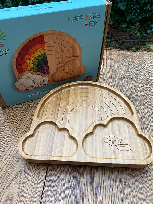 'Rainbow' Bamboo (suction) Plate
