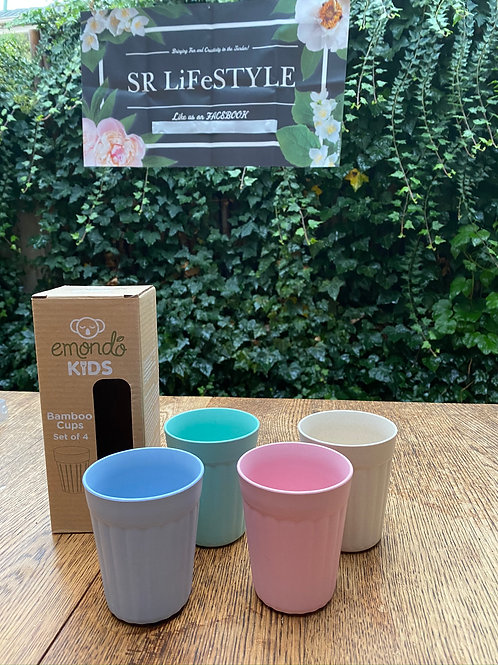 Bamboo Cup Set of 4