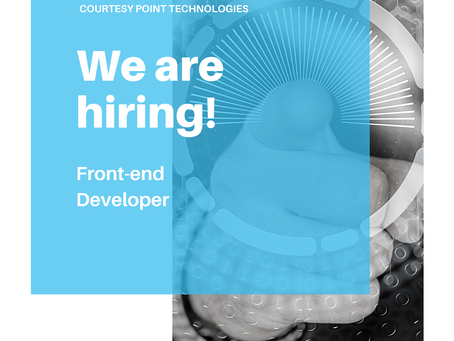 Now Hiring: Front-end Developer