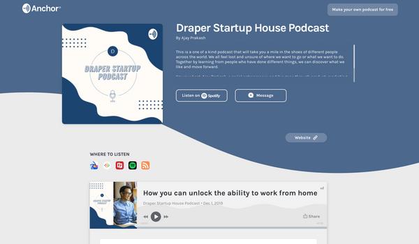 Draper Startup House Podcast