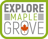 Explore Maple Grove Logo - green orange