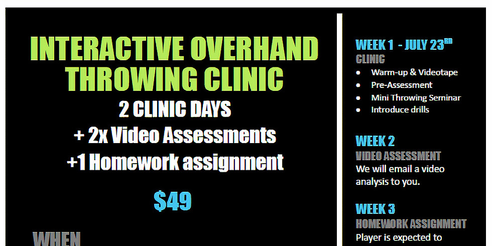 Interactive Overhand Throwing Clinic