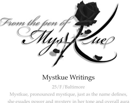 Mystkue is now a featured poet on www.hellopoetry.com! Check out some of my new work!!! Link below,