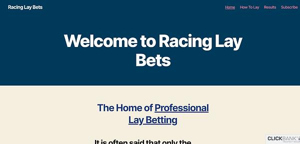 Racing lay bets