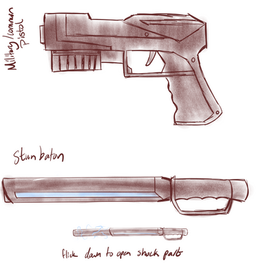 CODE: Red Police Weapons