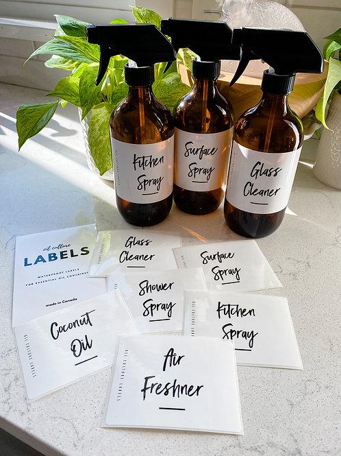16oz Spray Bottle Set