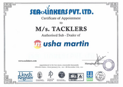 Usha Martin Certificate