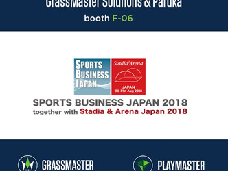 GRASSMASTER and PLAYMASTER by Tarkett Sports will be presented at a sports business expo in Osaka, J