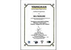 Youngman Certificate