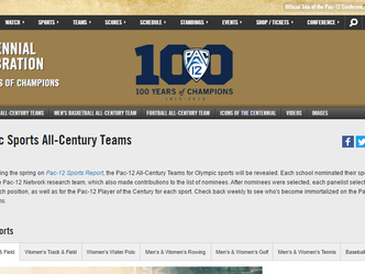 Banks selected as a member of the Pac-12 All-Century Men's Track & Field team