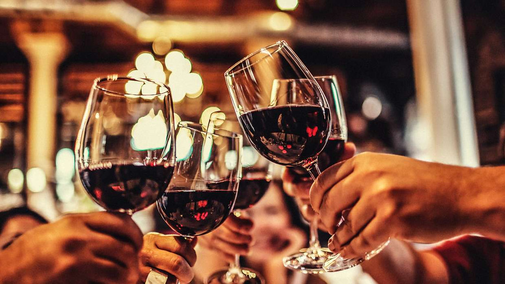 A toast with wine