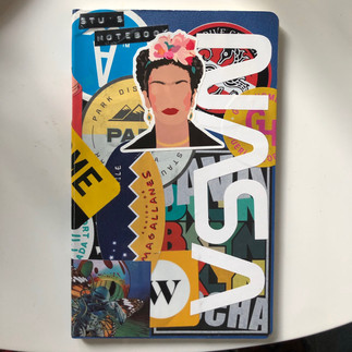 Frida Sticker & Custom Art Print Sticker: Galactic Metamorphosis